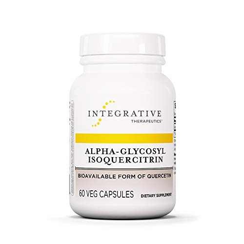 Integrative Therapeutics – Alpha-Glycosyl Isoquercitrin – Bioavailable Form of Quercetin – 60 Capsules