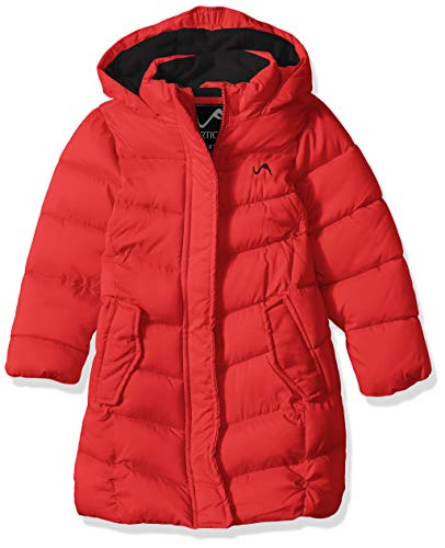 Vertical '9 Girls' Toddler' Fashion Quilted Bubble Jacket, Red, 2T