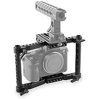 SmallRig Camera Cage Video Camera Cage for DSLRs/SLR Panasonic GH5/GH4/GH3, Canon EOS 5D Mark III/80D/70D/6D/7D, Nikon D7200/D7000/D7100, Sony A7II/A7SII, Fujifilm X-T2