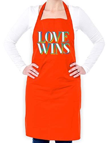 Dressdown Love Wins - Unisex Adult Apron - Orange - One Size by Dressdown (Image #4)