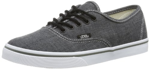 Vans Unisex Authentic? Lo Pro (Chambray) Charcoal/True White Mens 7.5, Womens 9 Medium