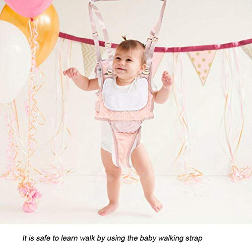 Baby Walking Harness Baby Walker Comfortable for Baby Learning Walking Toddler Walking Belt(Cherry Blossom Powder)