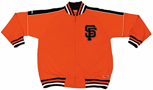 MLB San Francisco Giants Contrast Shoulder Track Jacket, Orange, X-Large (Jacket Giants Francisco San)