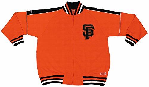 MLB San Francisco Giants Contrast Shoulder Track Jacket, Orange, X-Large (San Giants Francisco Jacket)