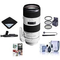 Sony 70-200mm f/2.8 G-Series II (Alpha) Mount Digital SLR Zoom Lens - Bundle With 77mm Filter Kit, Lens Wrap (19x19), LensPen Lens Cleaner, Capleash, Cleaning Kit, Software Package