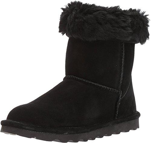 BEARPAW Women's Elle Short Winter Boots, Black, Size 11 Wide US ()