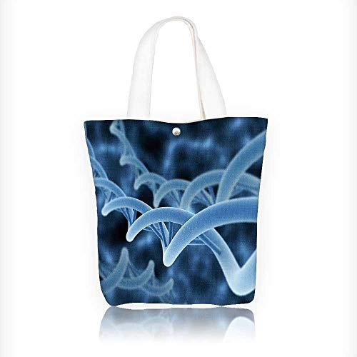 Canvas Tote Bags Dna double helix Design Your Own Party Favor Pack Tote Canvas Bags by Big Mo's Toys W16.5xH14xD7 INCH - Dna Small Sling