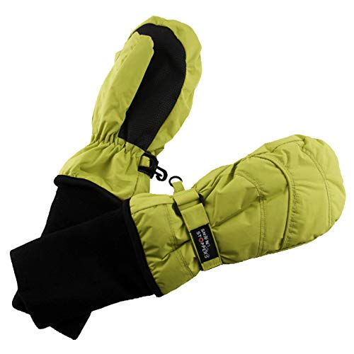 SnowStoppers Kid's Waterproof Stay On Winter Nylon Mittens Medium / 2-5 Years Lime Green