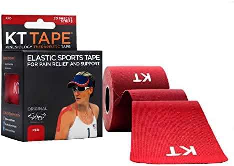 KT TAPE Original Cotton Elastic Kinesiology Therapeutic Tape - 20 Pre-Cut 10-Inch Strips