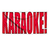 Karaoke! Outdoor Advertising Printing Vinyl Banner Sign With Grommets - 2ftx3ft, 4 Grommets