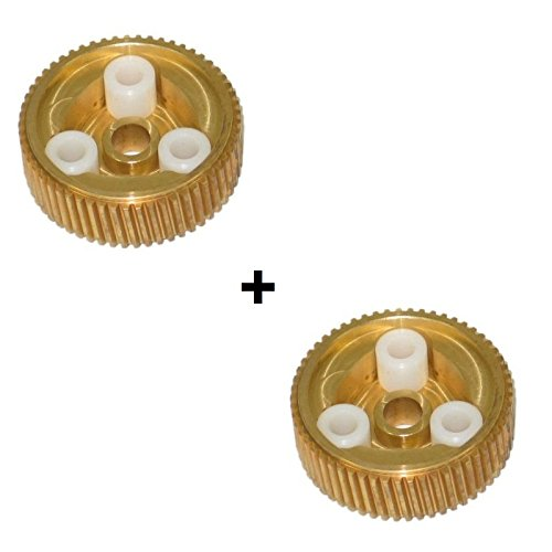 C4 Corvette 88-96 Headlight Replacement Bronze Gear Upgrade Over Stock Nylon Dual Kit Fits: 88 through 96 Corvettes