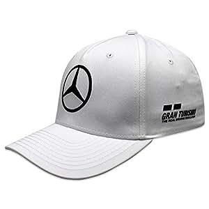 Mercedes AMG F1 Team Driver Puma Hamilton Niños Gorra Blanco Oficial 2018: Amazon.es: Deportes y aire libre