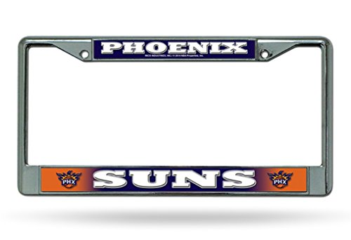 Rico Phoenix Suns NBA Chrome Metal License Plate Frame by Rico