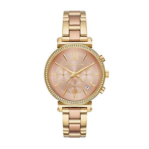 - Michael Kors Watches Womens Sofie Two-Tone Blush Rush Watch (Gold)