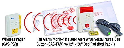 Secure Bed Exit Sensor Pad w/ Fall Alarm Monitor, Wireles...