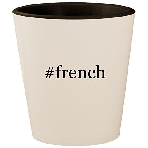Price comparison product image #french - Hashtag White Outer & Black Inner Ceramic 1.5oz Shot Glass