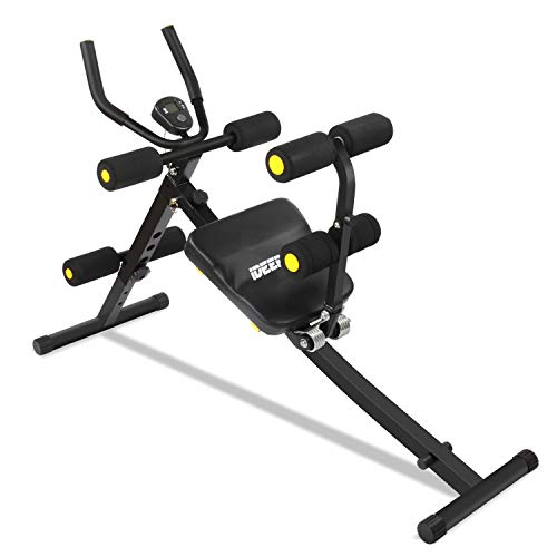 IDEER LIFE Core&Abdominal Trainers Abdominal Workout Machine,Whole Body Workout Equipment for Leg,Thighs,Buttocks,Rodeo,Height Adjustable Sit-up Exerciser Home Ab Trainer with LCD Display.Black 09035
