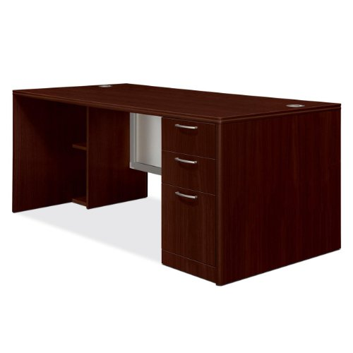 HON The COMPANY Right Single Pedestal Desk, 72 by 36 by 29-1/2-Inch, Mahogany Review