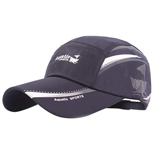 Baseball Hats for Women Large Size Head Flap Visor Hat, 2019 Hat Adjustable Mesh Sunscreen Hat Summer Mountaineering Cap Navy