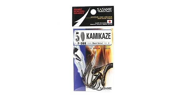 Sasame F-388 Kamikaze Straight Shank Offset Hook Size 5//0 4835