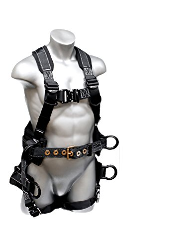 Elk River 67602 Polyester/Nylon Peregrine Platinum Series 6 D-Ring Harness with Quick-Connect Buckles, Medium