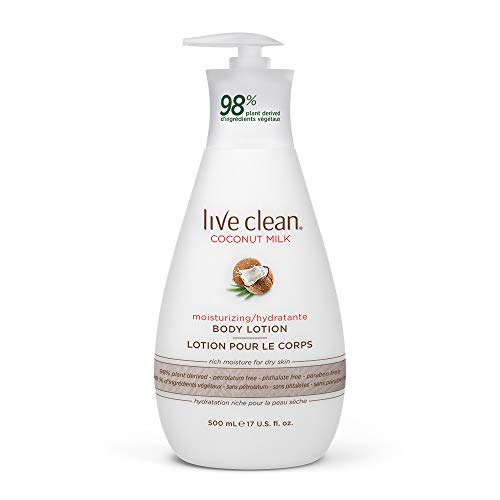 powerful Live Clean Coconut Milk Moisturizing Body Lotion, 17 oz.