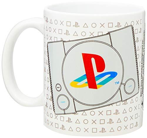 Caneca Playstation Banana Geek Branca