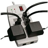 TRIPP LITE TLP66NETAA / 6-Outlets Surge Suppressor / 6 x NEMA 5-15R - 1.80 kVA - 1080 J - 125 V AC Input - 125 V AC Output
