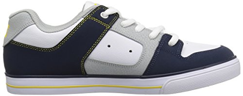 Pictures of DC Pure Elastic Skate Shoe Navy/Grey ADBS300348 Navy, Grey 3