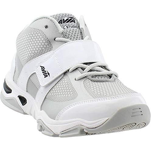 (Avia Women's GFC Studio II Sneaker, White/Chrome Silver/Black, 9.5 Medium US)