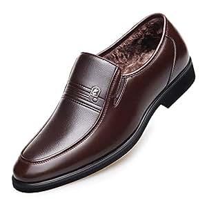 Amazon.com: Hemei Men's Leather Shoes Winter Business