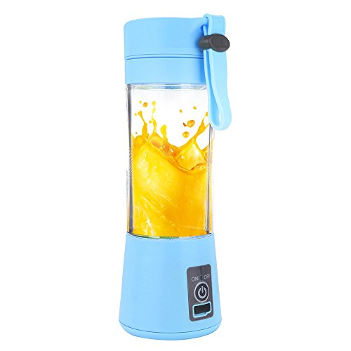 - Kariwell Juice Cup, Personal Glass Smoothie Blender 380ml USB Electric Fruit Juicer Handheld Smoothie Maker Juice Cup (Blue)