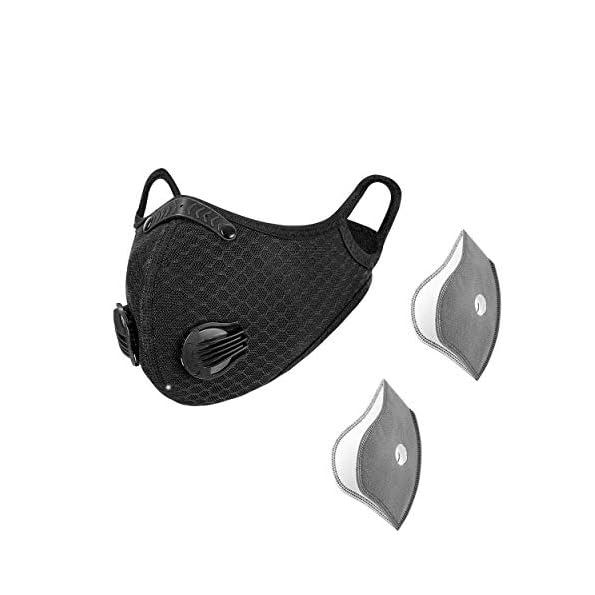 Sportmaske-Sport-Maske-mit-Ventil-frs-Training-Mundschutz-Maske-mit-Filter-Atemschutzmaske-mit-Ventil-Schutzmaske-mit-2-Aktivkohle-5-lagigen-Filtern-Masken-mit-Ventil-von-Toys4Boys
