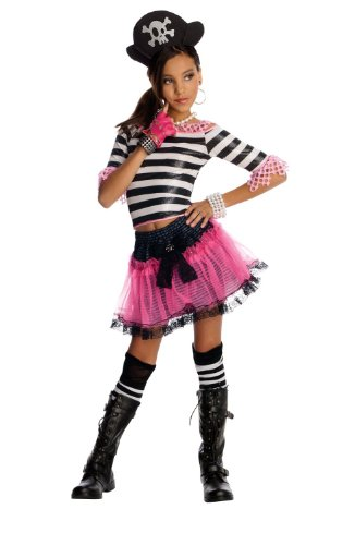 - Drama Queens Child Pirate Treasure Costume (12-14  (fits 8-10 yrs) with Bracelet for Mom)