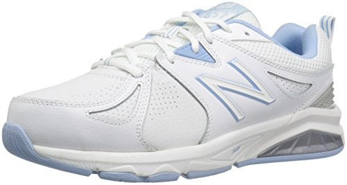 New Balance Women's wx857v2 Casual Comfort Training Shoe, White/Blue, 9.5 2A US