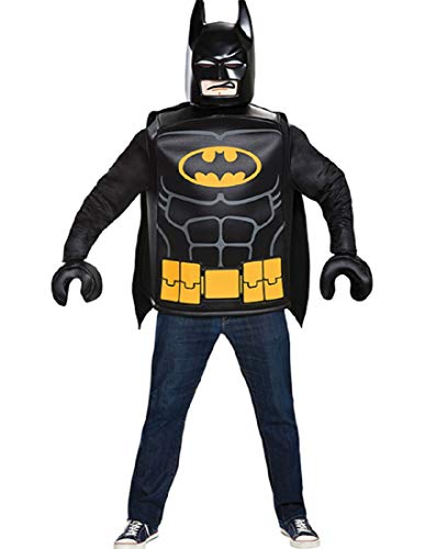 Disguise Men's Batman Classic Adult Costume, Black, One Size