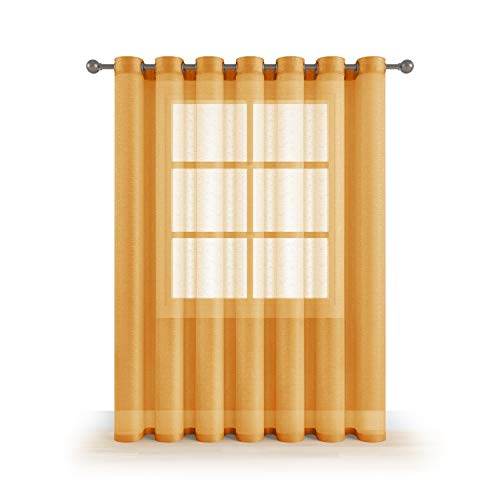 Grommet Sheer Luxury 1 Double Wide Curtain Panel Window Home Decor and Upscale Design Light Penetrating Provide Privacy Soft Durable Polyester Easy Maintenance (Panoramic 104
