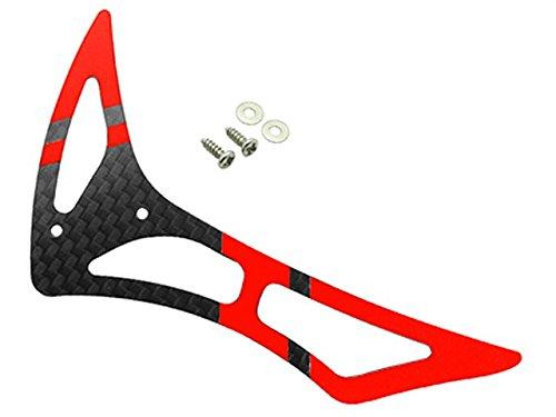 3k Carbon Fiber Tail Blade - Rakon CNC 3K Pure Carbon Fiber Tail Fin Set (Black-Red) - Blade 230S