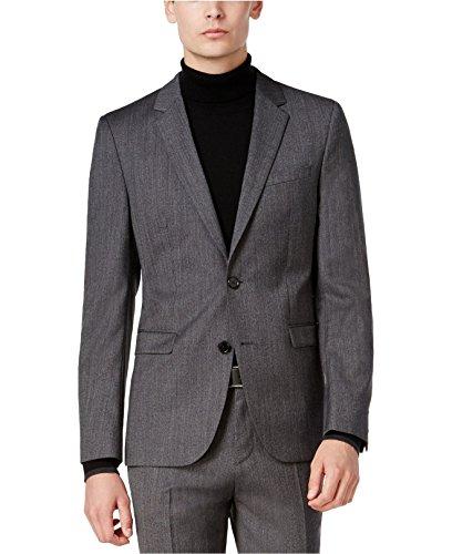 Hugo Boss Astian/Hets Extra Slim Fit 2 Piece Men's 100% Virgin Wool Suit Melange Herringbone 50320624 033 by HUGO (46 Regular USA Jacket / 40 Waist Pants) by HUGO BOSS (Image #1)