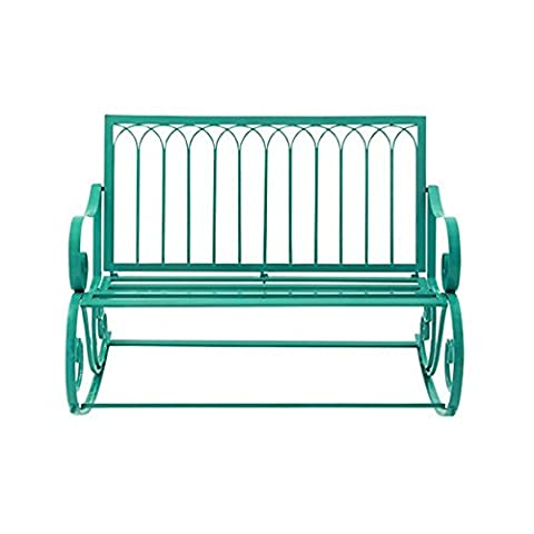 Great Outdoors All-Weather 49 in. Metal Rocking Bench (Commercial Wood Lathe)