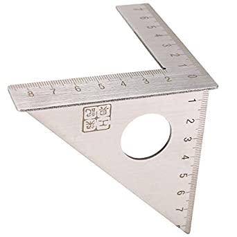 Woodworking Ruler Square Layout Miter 45°+90°Metric Gauge Measuring Hand Tools