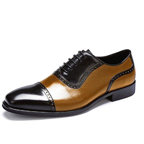 Uomo Uomo Scarpe Stringate Casual Britannico da da 42 da Uomo brown Scarpe Grande Black Estero Abito da Lavoro YIWANGO Commercio qgEZxEd