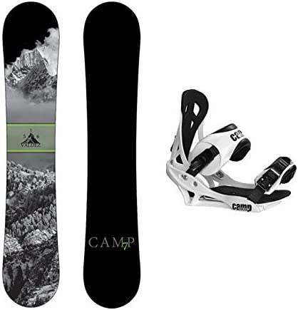 Camp Seven 2020 Valdez Snowboard and Summit Bindings Men's Snowboard Package