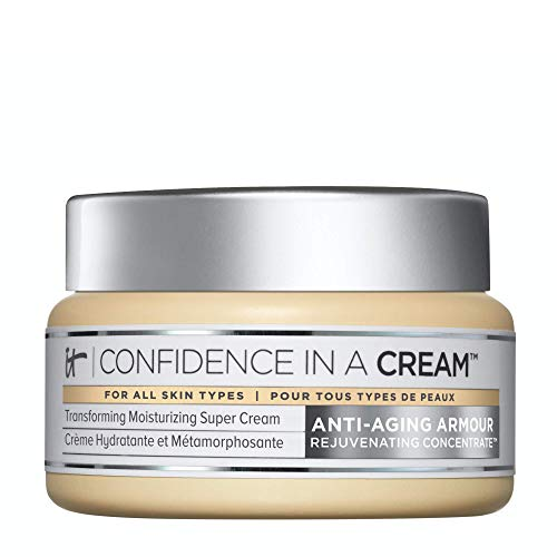 IT Cosmetics Confidence in a Cream – Facial Moisturizer – Reduces the Look of Wrinkles & Pores, Visibly Brightens Skin…