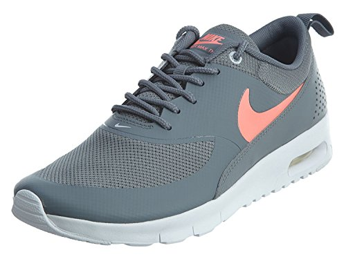 Nike NIKE AIR MAX THEA (GS) girls running-shoes 814444-007_4Y - COOL GREY/LAVA GLOW-PURE PLATINUM-WHITE by NIKE