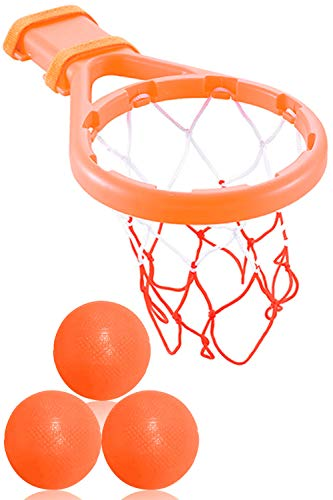 Bath Basketball - 3 Bees & Me Bath Toy Basketball Hoop & Balls Set for Boys and Girls - Kid & Toddler Bath Toys Gift