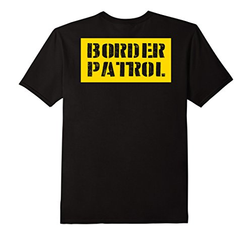 Costumes For College Students Simple (Mens Border Patrol Shirt Lazy Halloween Costume (Design On Back) 2XL)