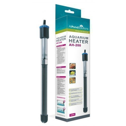 All Pond Solutions Aquarium Fish Tank Submersible Heater, 200 W