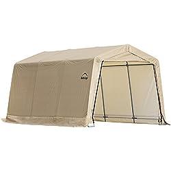 ShelterLogic Peak Style AutoShelter, Sandstone, 10 x 15 x 8 ft.