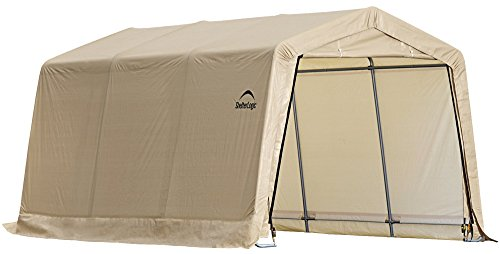 Instant Structures Series : Shelterlogic instant garage series autoshelter tan